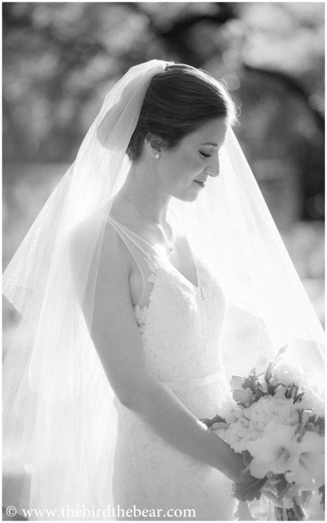 Bride with her veil during her bridal portraits at Westwood Country Club in Austin, TX.
